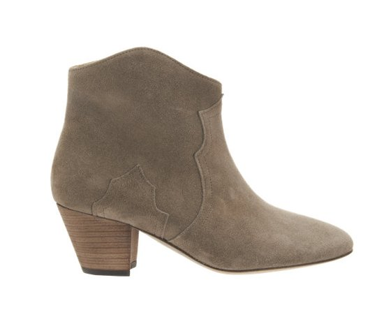 They haven't become the bootie of choice in the celebrity style-setting world without good reason. Like Miranda Kerr, Sienna Miller, and Kate Bosworth, we'd rock these Étoile Isabel Marant Dicker boots ($600) with just about everything — fingers crossed she makes them a little more accessible with H&M.