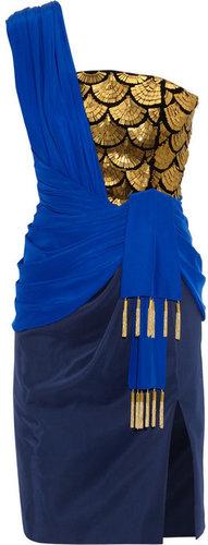 Altuzarra Kali fringed silk-charmeuse dress