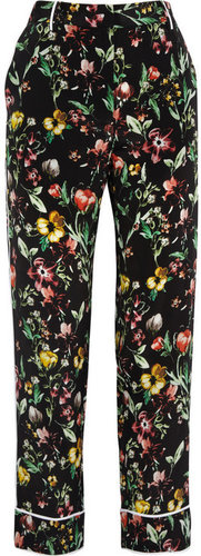 3.1 Phillip Lim Botanical-print silk tapered pants
