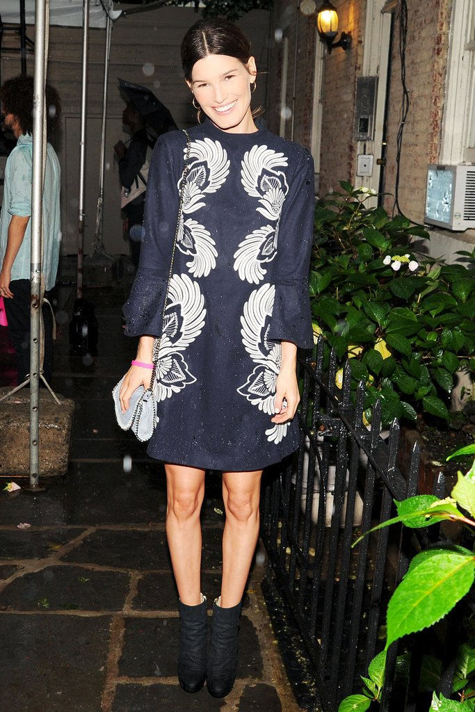 Hanneli Mustaparta at Stella McCartney's Resort 2014 presentation in New York. Source: Billy Farrell/BFAnyc.com