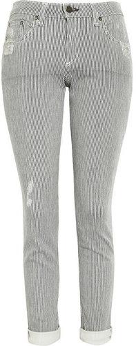 Rag & bone JEAN Dash striped slim-leg jeans