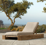 Bring rustic simplicity outdoors with this oak chaise ($1,355, originally $1,695) that will continue to age with character overtime.