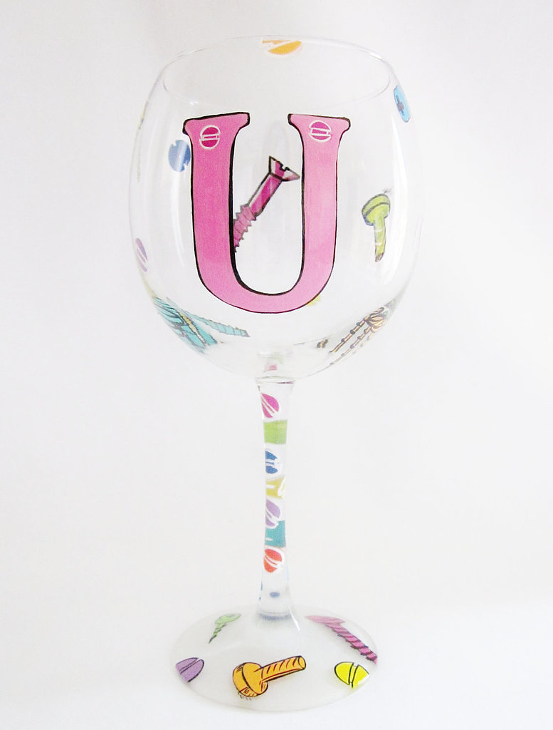 Could this sassy Screw You wine glass ($23) be any more appropriate for a girl on the mend?