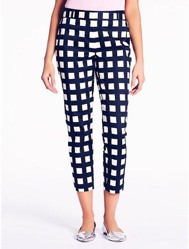 Checkered davis capri