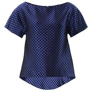 Osman Checkered brocade top