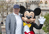 Anthony Hopkins shared a photo op with Mickey Mouse at Disneyland in April.