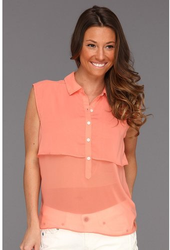 Volcom - Little Feather Tank (Coral) - Apparel