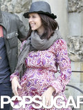 Jennifer Love Hewitt showed off her baby bump and engagement ring in Florence, Italy.