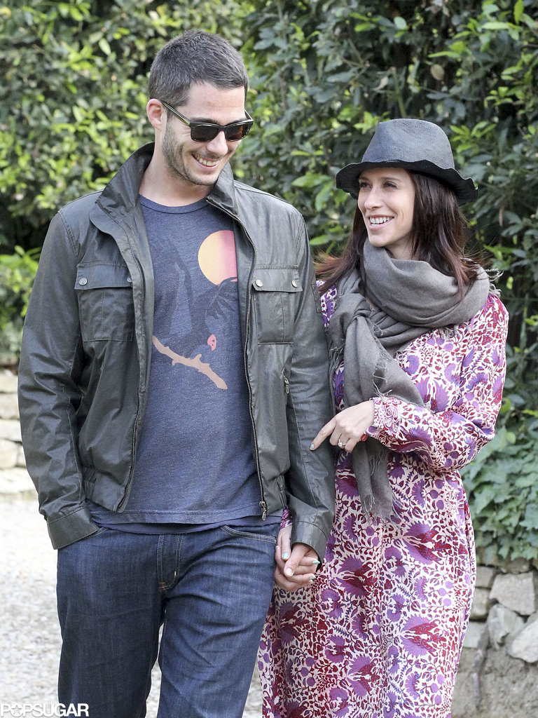 Jennifer Love Hewitt couldn't take her eyes off fiancé, Brian Hallisay, in Florence, Italy, in May.