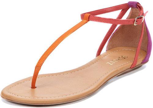Colorblock Nubuck Thong Sandal
