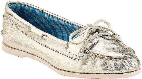 SPERRY TOP-SIDER® Audrey Metallic Leather Slip-On Boat Shoes