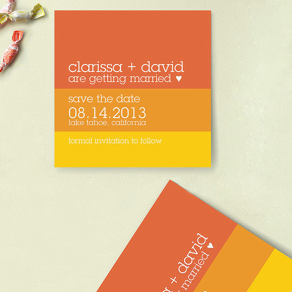 8. Colorblock Save-the-Dates
