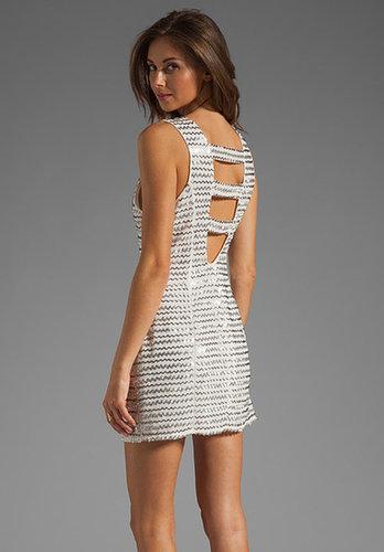 Parker Ivy Metal Zig Zag Dress