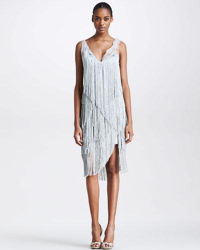 Nina Ricci Fringe Cocktail Dress, Gray