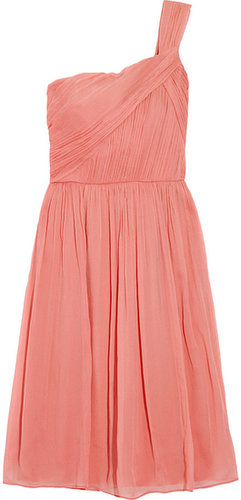 J.Crew Lucienne one-shoulder silk-chiffon dress