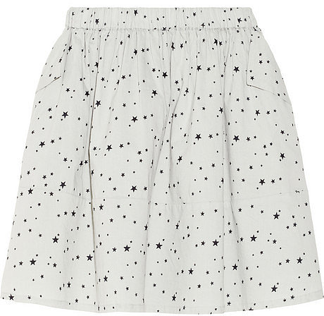 Chinti and Parker Star-print cotton A-line mini skirt