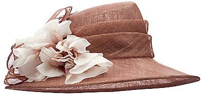 John Lewis Paige Flower Occasion Hat, Pink Mocha