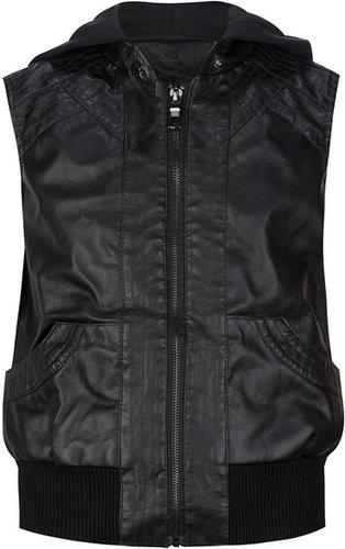 FULL TILT Faux Leather Girls Vest