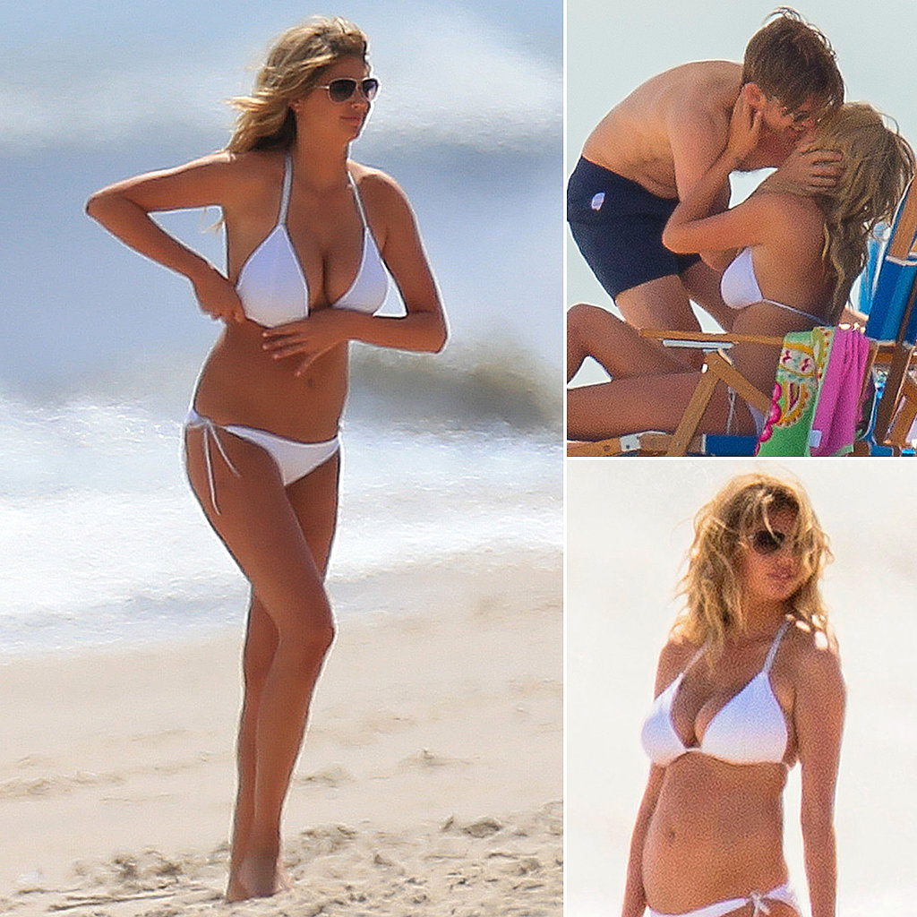 Bikini Babe Kate Upton Suits Up For an On-Set Kiss