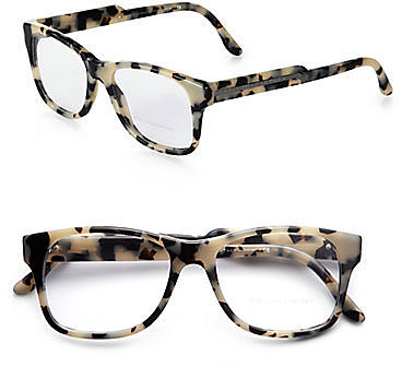 Stella McCartney Oversized Square Acetate Reading Glasses/Grey Tortoise