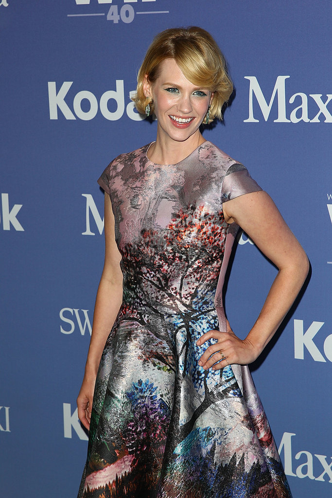 January Jones Debuts Her New 'Do Alongside Her Mad Women