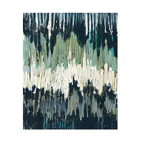Add blues and jewel tones to your space with this  chevron waves canvas ($429).