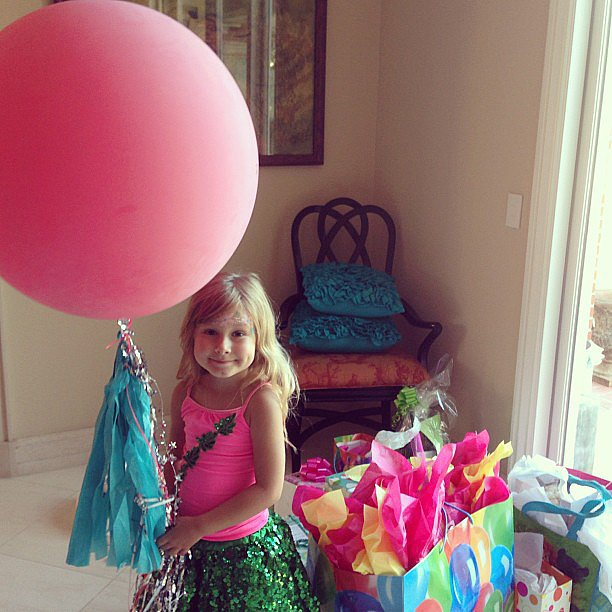 Tori Spelling gave little Stella a shout out after her flower power-themed fifth birthday party. Source: Instagram user torianddean