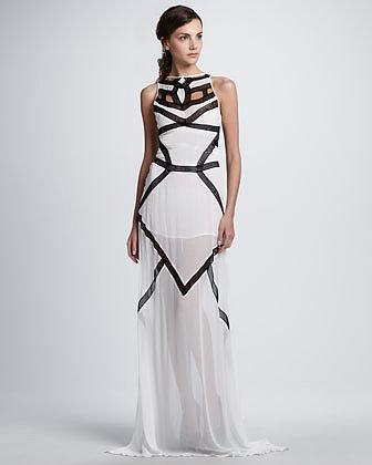 Suboo Pagoda Contrast Maxi Dress