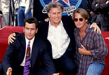 Martin Sheen, Charlie Sheen, and Emilio Estevez