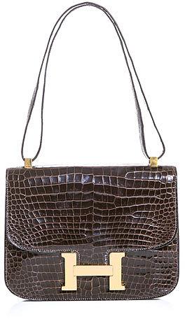 Hermes Vintage Crocodile skin Constance bag