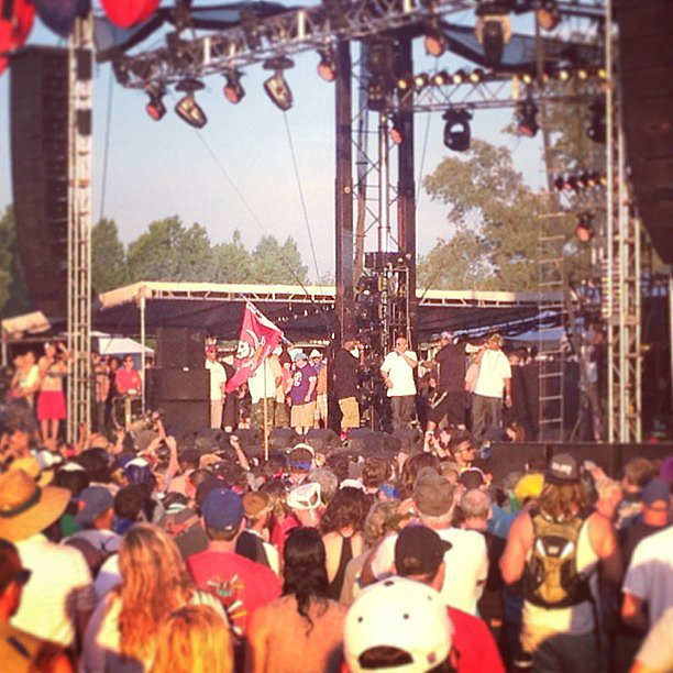 The Wu-Tang Clan's set took us straight back to the '90s — they played all of their hits (plus some solo tunes), and got the crowd pumped like we've never seen before. They even started 10 minutes early! Source: Instagram user brittsteps