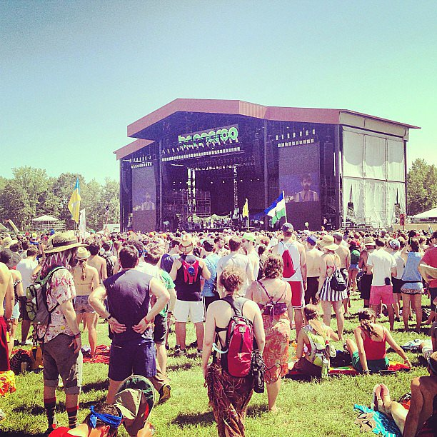 The temperature rose in the afternoon, but that didn't stop us from taking in the Local Natives show at the What Stage.  Source: Instagram user popsugarfashion