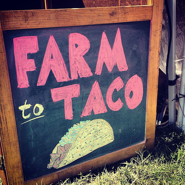 A food kiosk sign we can get behind. Source: Instagram user popsugarfashion