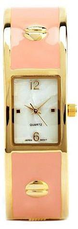 Studded Enamel Cuff Watch