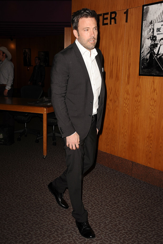 Ben Affleck hung out inside the theater.