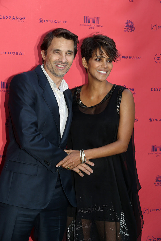 "Halle and Olivier Await the Arrival of Their ""American"" Son in Paris"
