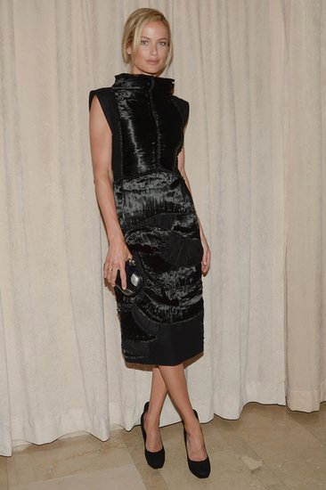 Carolyn Murphy chose a sophisticated Bottega Veneta sheath. Source: Matteo Prandoni/BFAnyc.com