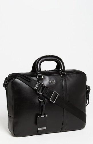 BOSS Black 'Possiv' Leather Briefcase