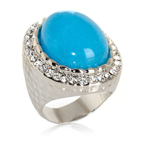 Roberto Faraone Mennella Turquoise-Color Stone and CZ Silvertone Ring Log in to POPSUGAR and tell us which of the following HSN.com jewelry offerings is No. 1 on your Summer must-have list at the end of this poll!