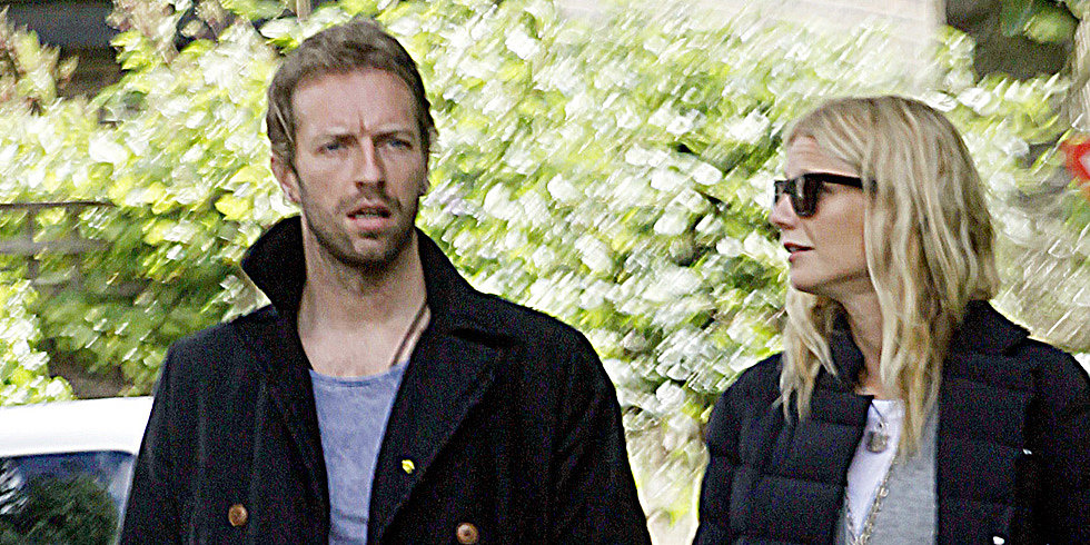 Gwyneth and Chris Show PDA During a Low-Key Stroll