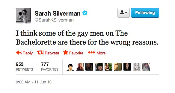 @SarahKSilverman tweets what we were thinking.