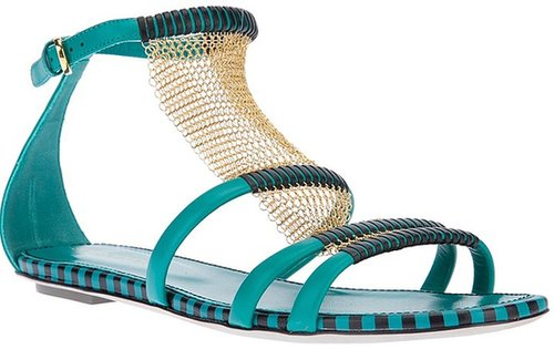 Sergio Rossi strappy flat sandal