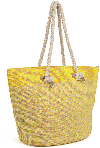 MAGID Extra-Large Two-Tone Straw Tote
