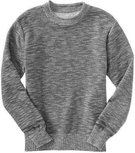 Roll-neck slub sweater