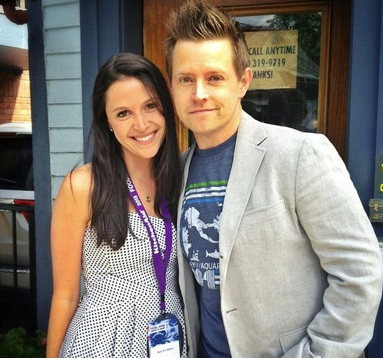 Richard Blais and his publicist gathered close at the start of the Classic.  Source: Instagram user richardblais