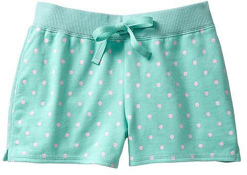 Printed knit active shorts