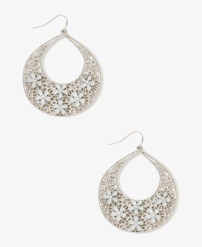 FOREVER 21 Floral Drop Earrings