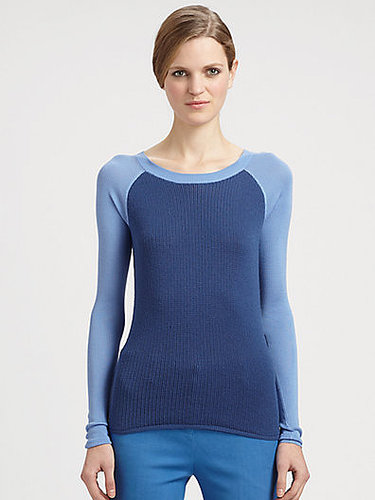 Reed Krakoff Silk/Wool Baseball Sweater