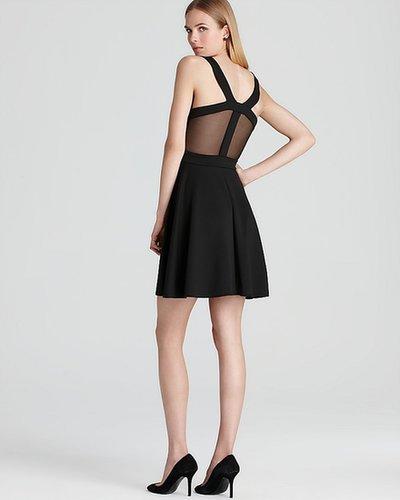 Aqua Sport Cutout Dress - Mesh Inset
