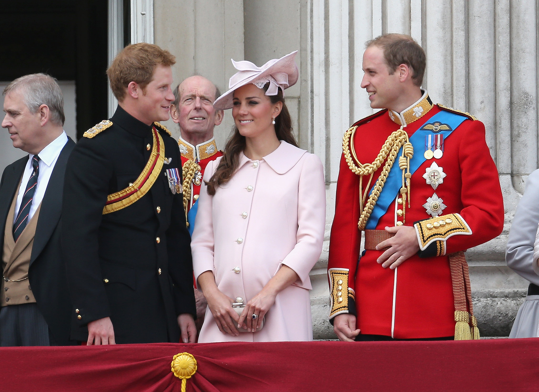 In June 2013, Kate made her final public appearance while pregnant when she attended the Trooping the Colour parade with Harry and William in London.
